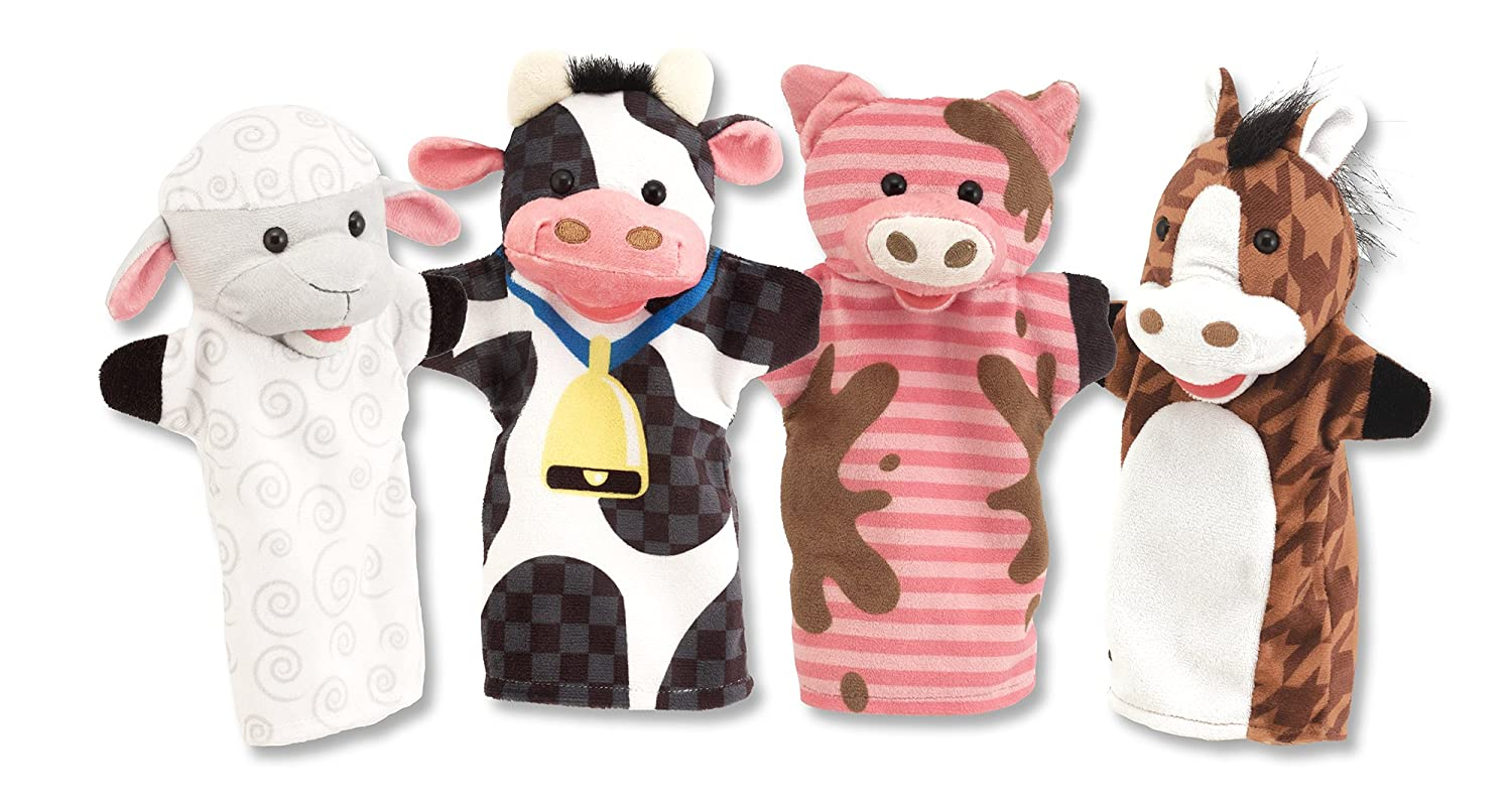 Melissa & Doug Farm Friends Hand Puppets (Set of 4)