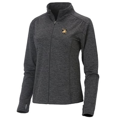 Ouray Sportswear Women's Swerve Full Zip Jacket, Small, Charcoal