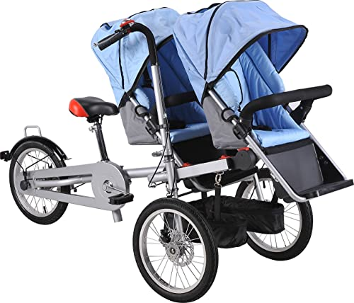Bike and Baby Stroller, Folding 16-inch Carrier with Sun Cover and Shopping Bag from M&C Corp