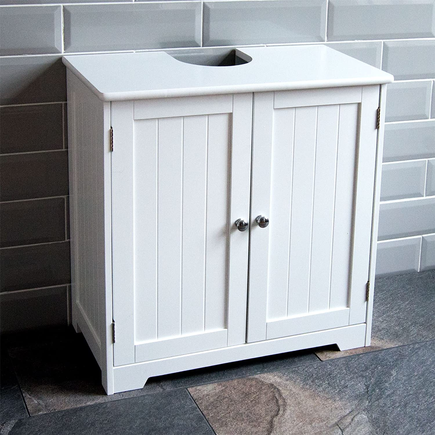 Bath Vida Priano Under Sink Bathroom Cabinet Floor Standing Storage Cupboard Basin Unit White Amazon Co Uk Kitchen Home