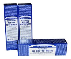 Dr. Bronner Peppermint Toothpaste 5-Ounces (3 Pack)