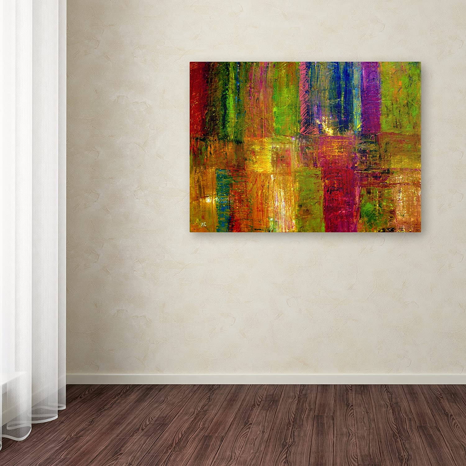 Trademark Fine Art Color Panel Abstract By Michelle Calkins Canvas