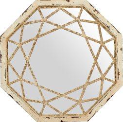 Stone & Beam Vintage-Look Octagonal Hanging Wall Mirror