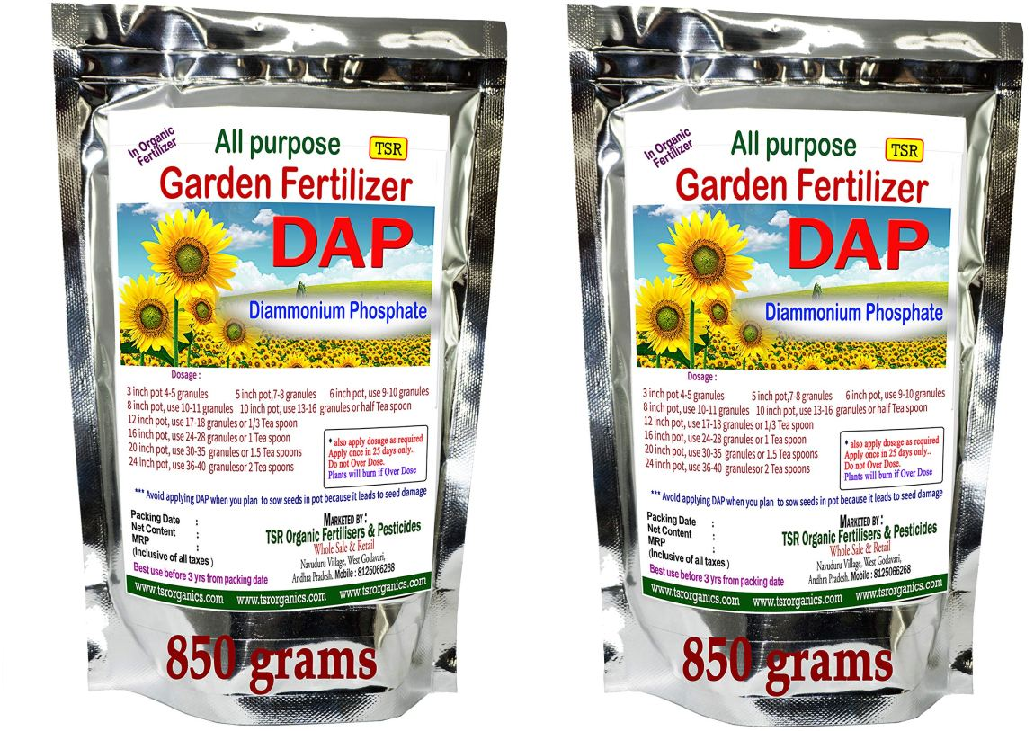 TSR Organic Fertilisers & Pesticides DAP Di-Ammonium Phosphate 1700 g (850  + 850 g) All Purpose Fertilizer for Home Plants Lawn and Gardens- Buy  Online in Sweden at sweden.desertcart.com. ProductId : 90066376.