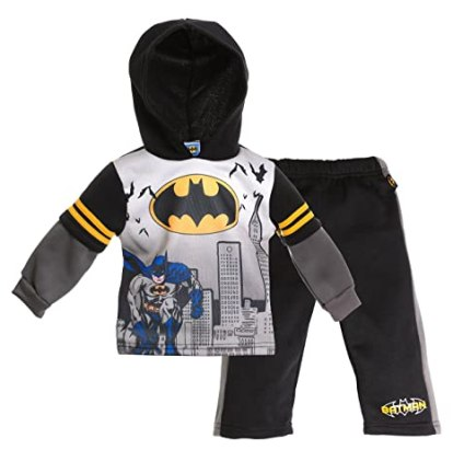 Batman Sweat Suit for Boys - Long Sleeved with Hoodie Top Set - 24 Months