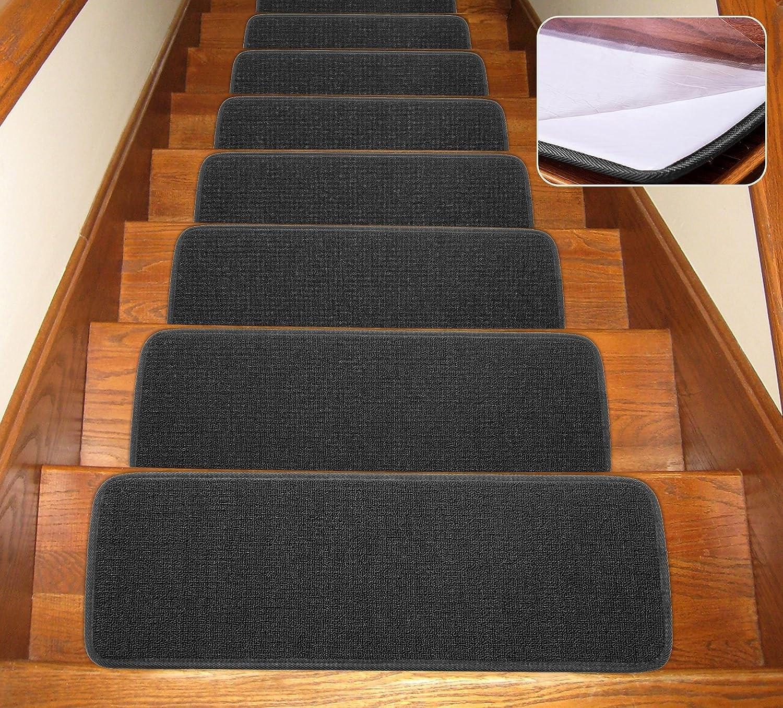10 X 26 Stair Treads Set Of 7 Collection Self Stick Outsky Non | Self Stick Carpet Stair Treads | Stair Nosing | Stairway | Anti Slip | Stick Bullnose Wraparound | Beaudoin Utility Peel