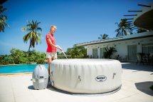 SaluSpa Paris AirJet Inflatable Hot Tub w/ LED