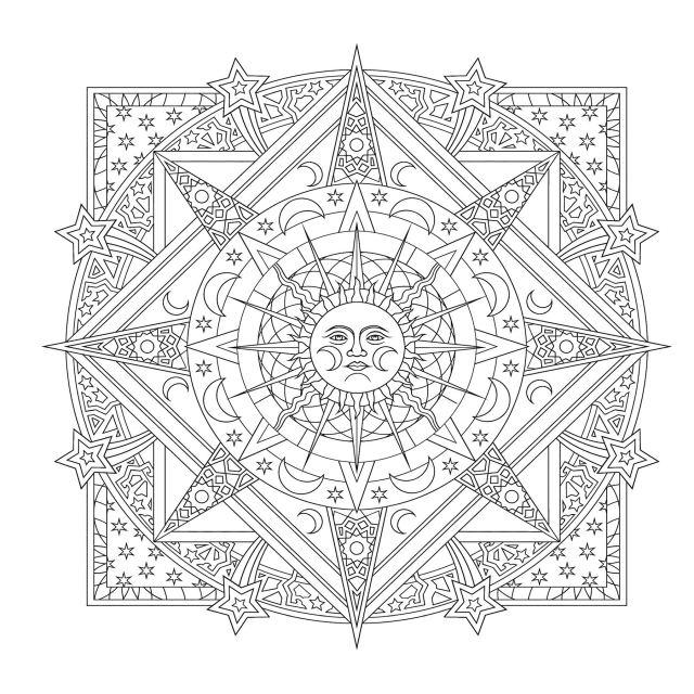 Amazon.com: Creative Haven Celestial Mandalas Coloring Book