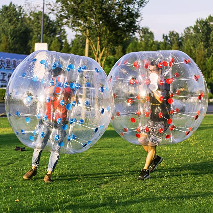 Popsport Inflatable Bumper Ball 4FT/5FT Bubble Soccer Ball 0.8mm Eco-Friendly PVC Zorb Ball Human Hamster Ball for Adults and Kids (5FT 2Pcs)