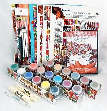Amazon Com Art Nails Teach Yourself Master Kit Nail Art Equipment Beauty