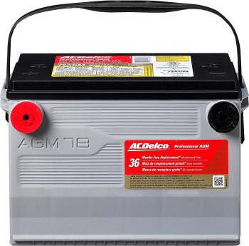 ACDelco 78AGM Professional AGM Automotive Battery