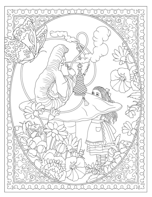 Creative Haven Alice in Wonderland Designs Coloring Book (Creative