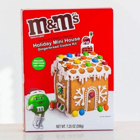 Amazon.com: M&M's Holiday Mini House Gingerbread Cookie Kit, 7.25 Oz.