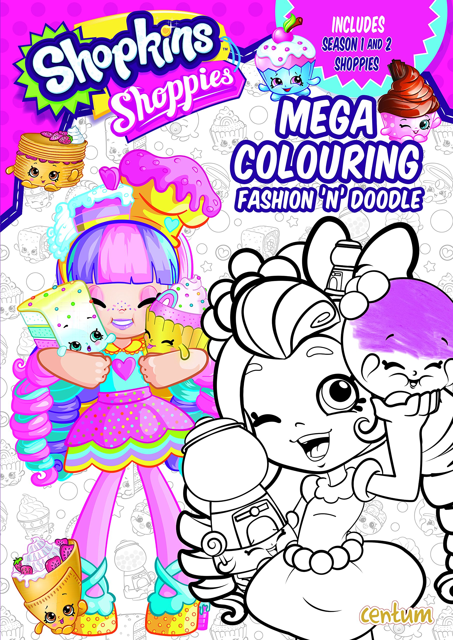 Shopkins Shoppies Mega Colouring Book Amazon Co Uk 9781911460107 Books