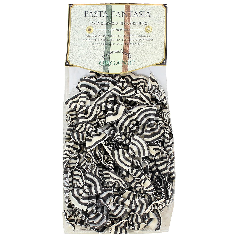 Italian Pasta Fantasia Organic Zebra Bowties (Farfalle Magia Bianca) Colored Pasta, 8.8 Ounces, Pack of 4
