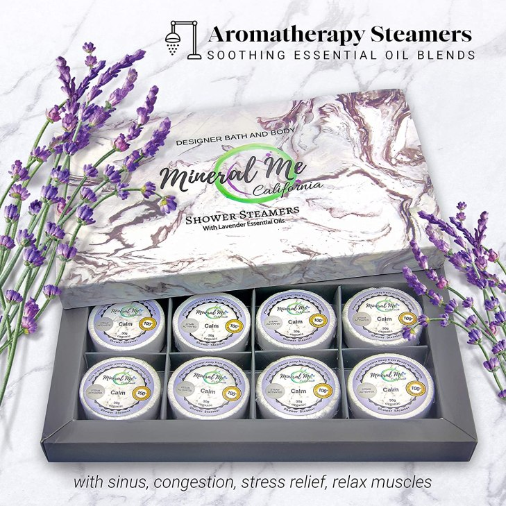 Aromatherapy Shower Bombs - Lavender Essential Oils - Hostess Gifts