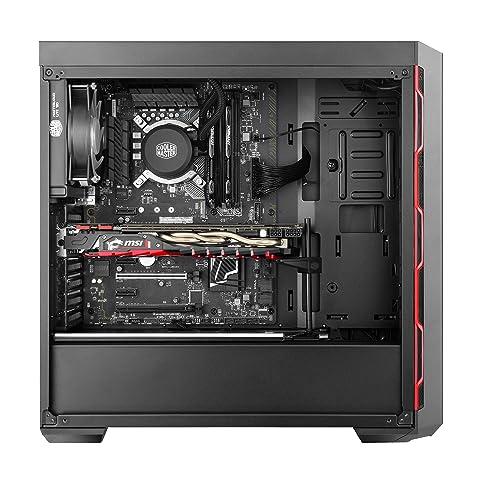Cooler Master ミドルタワーATX PCケース MasterBox MB600L Red [MCB-B600L-KA5N-S00]