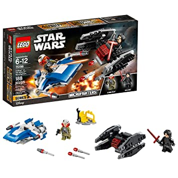 Lego Star Wars The Last Jedi A Wing Vs Tie Silencer Microfighters 75196 Building Kit 188 Pieces