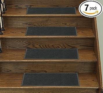 Ottomanson Cst1013 9X26 7 Stair Tread 7 Pack Dark Gray Amazon Com | Ottomanson Softy Stair Treads | Carpet Stair | Softy Carved | Amazon | Softy Collection | Non Slip Stair
