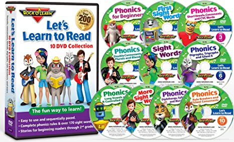 Amazon.com: Let's Learn to Read 10 DVD Collection by Rock 'N Learn ...