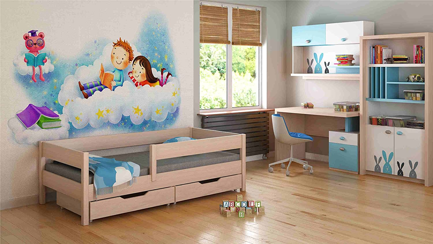 Childrens Beds Home Single Beds For Kids Children Toddler Junior With Drawers No Mattress Included 160x80 White Toddler Beds