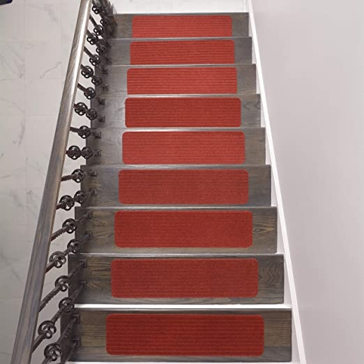 Amazon Com Stair Treads Collection Indoor Skid Slip Resistant   Carpet For Stairs Amazon   Beige   Non Slip   Flooring   Self Adhesive   Carpet Tiles