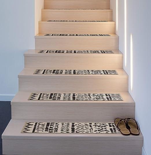 Amazon Com Rugshop Bohemian Design Geometric Non Slip Stair | Non Slip Stair Treads Carpet | Self Adhesive | Slip Resistant Rubber Backing | Step | Semi Circle | Adhesive Padding