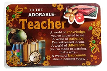 Teachers Day Gift Quotation For Teacher S Day Amazon In Toys Games