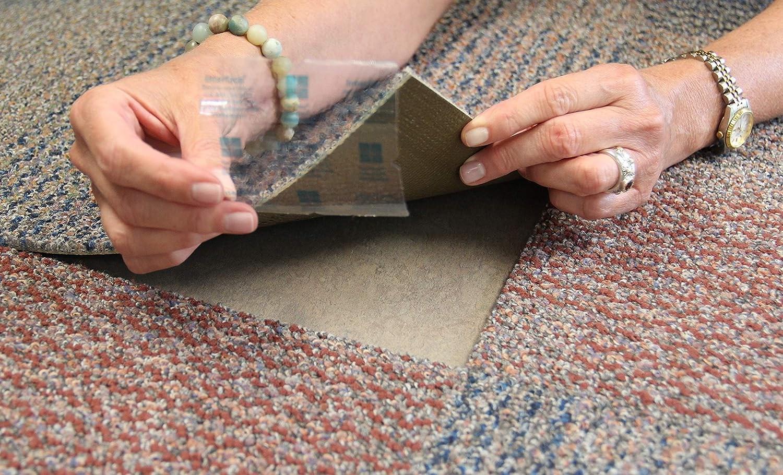 Amazon Com Flor Tactiles Carpet Tile Adhesive Connectors 20 Pack | Flor Carpet Tiles For Stairs | Diy Stair | Carpet Runners | Rug | Flooring | Floor Tiles