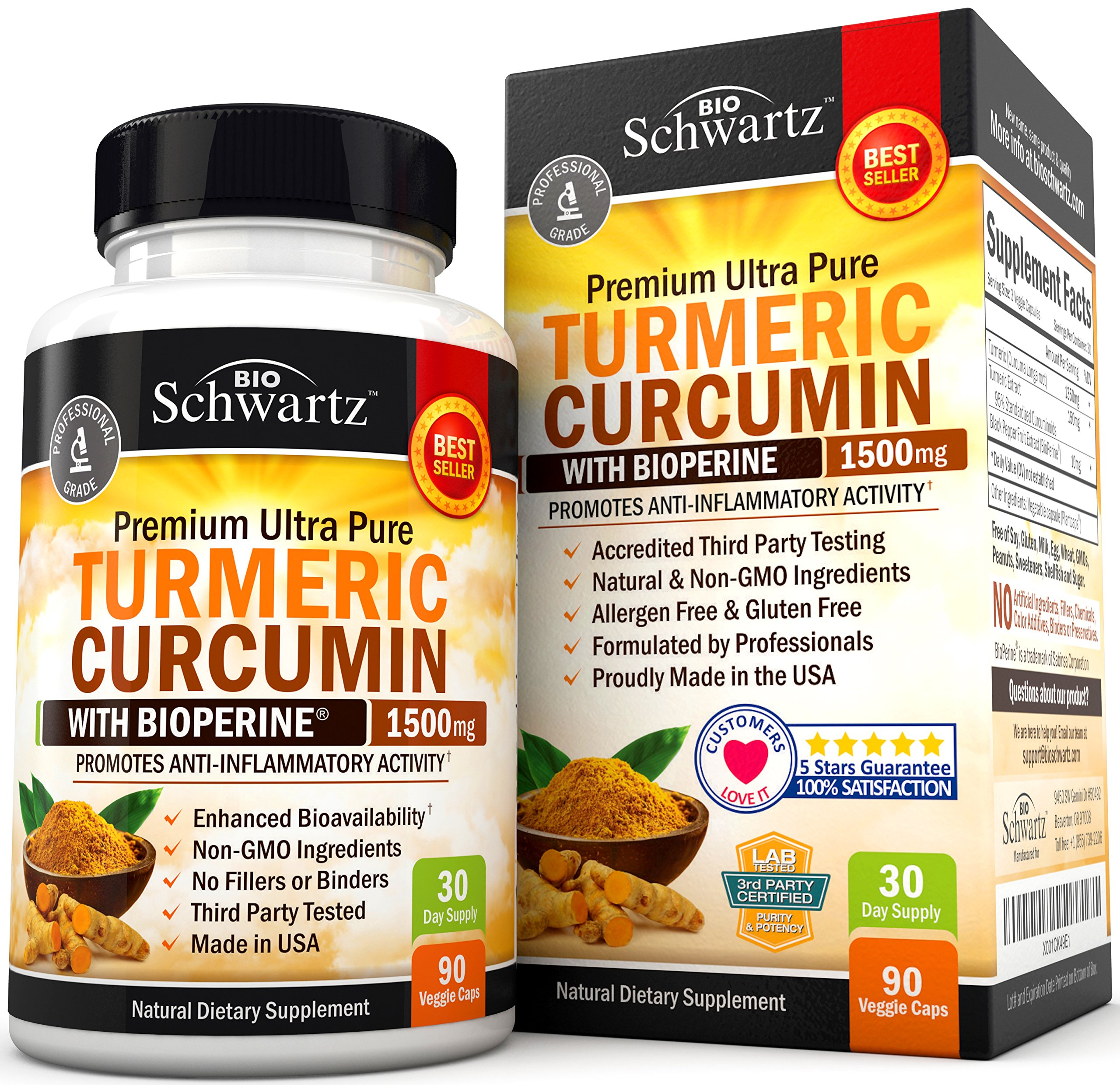 Turmeric Curcumin With Bioperine Mg Highest Potency Available Premium Pain Relief Joint Support