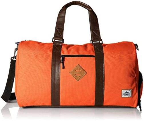 Steve Madden Men's Nylon Duffle Bag, Orange