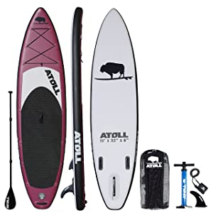 Atoll 11′ Foot Inflatable Stand Up Paddle Board