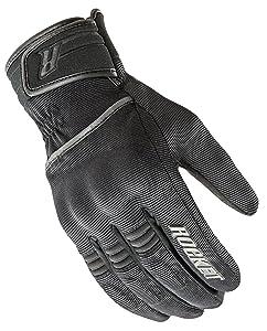 Joe Rocket Resistor Mens Black Textile Motorcycle Gloves