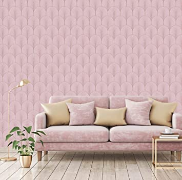 Superfresco Josephine Blush Pink Wallpaper by Graham and Brown