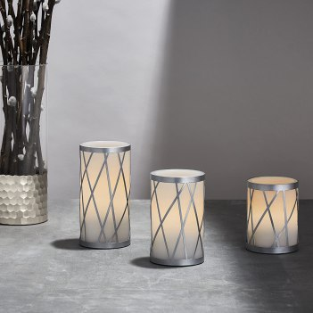 flameless candles   white