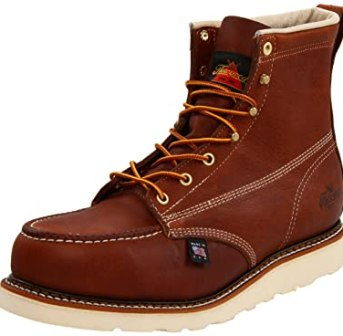 Thorogood American Heritage 804-4200 6-Inch Steel-Toe Work Boot, Tobacco, 9.5 D US