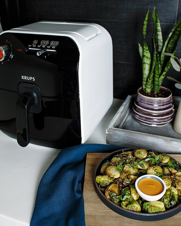 KRUPS AJ1000US Air Fryer Low-Fat with Adjustable Temperature, 2.5 L, Black
