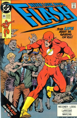 Amazon.com: The Flash - DC Comic Book # 44 Nov 1990: Loebs - Larocque -  Marzan Messner, Illustrated: Books