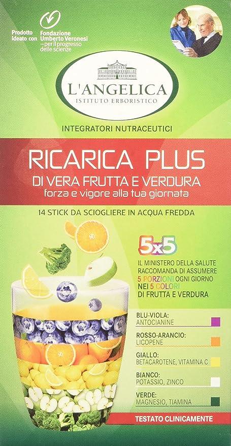 Langelica Ricarica Plus Di Vera Frutta E Verdura Vegeteria Pacco Da 6 X 1417 Gr Totale 85 Gr