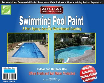 AdCoat Swimming Pool Paint - best paint for fiberglass pool, pool steps & Shower