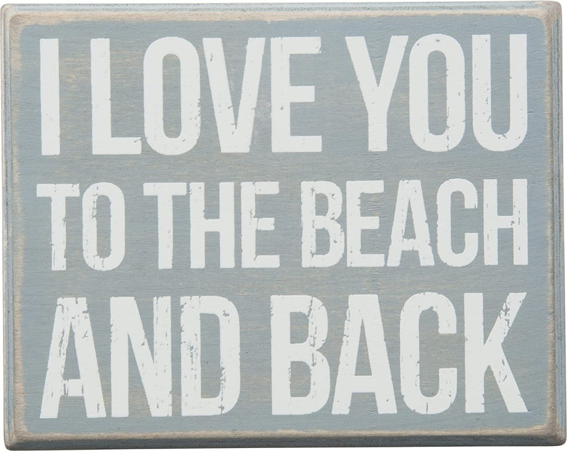 Download I Love You to The Beach and Back Box Sign Wood Wall Decor ...