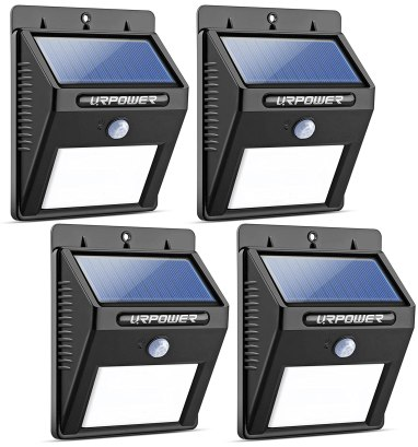URPOWER Solar Lights 8 LED Wireless Waterproof Motion Sensor Outdoor Light for Patio, Deck, Yard, Garden with Motion Activated Auto