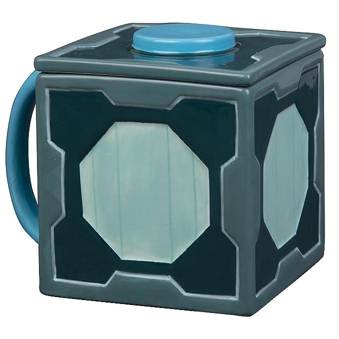 Rick and Morty Mr. Meeseeks Ceramic Coffee Mug with Lid - Box O Fun with Hidden Meeseeks Inside - 20 oz