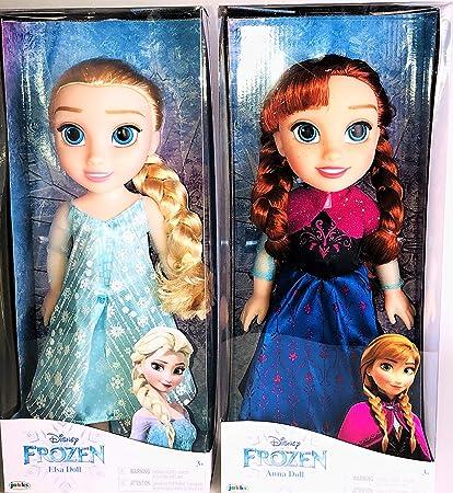 Amazon Com Disney Frozen Anna Elsa Doll Bundle Toys Games