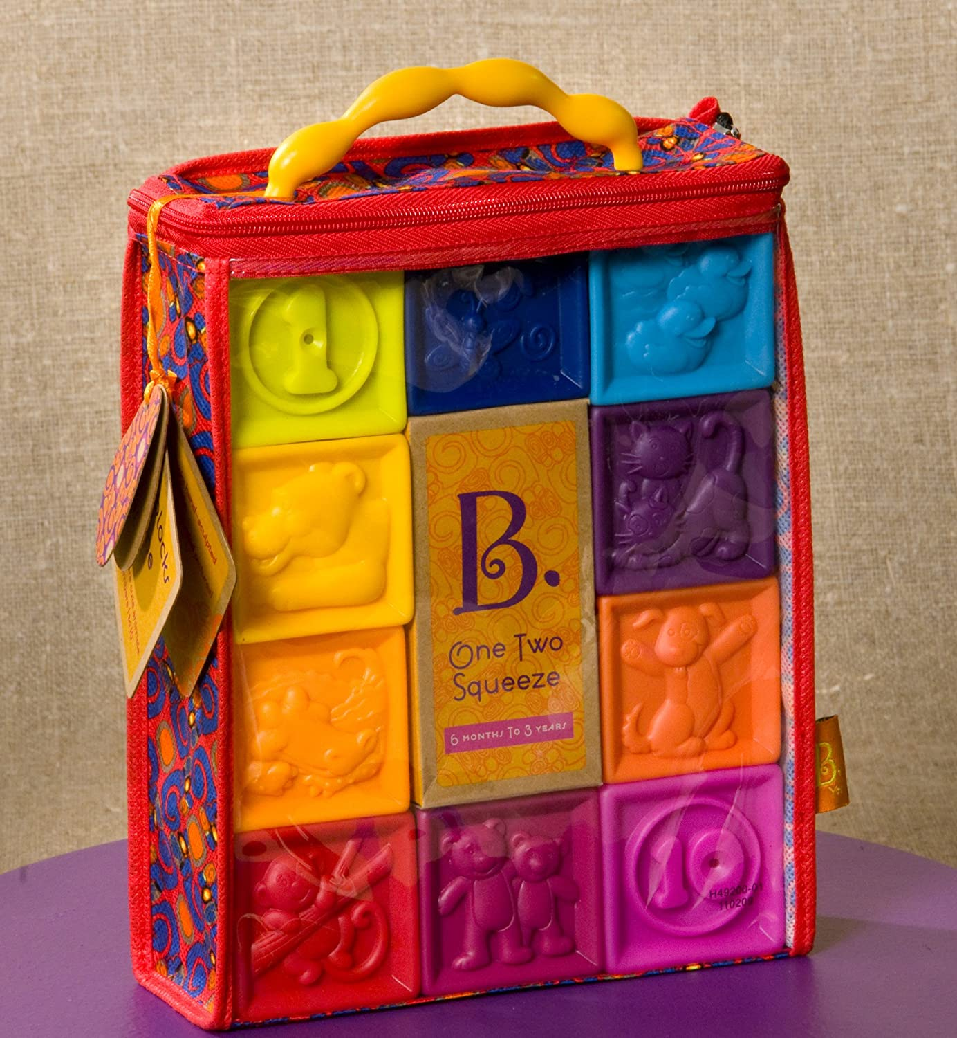 B. Toys B. One Two Squeeze Blocks