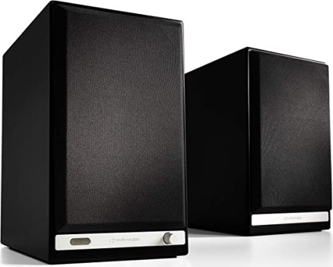 Audioengine HD6 150W Wireless Powered Bookshelf Speakers, Bluetooth aptX HD 24-Bit DAC & Analog Amplifier (Black)