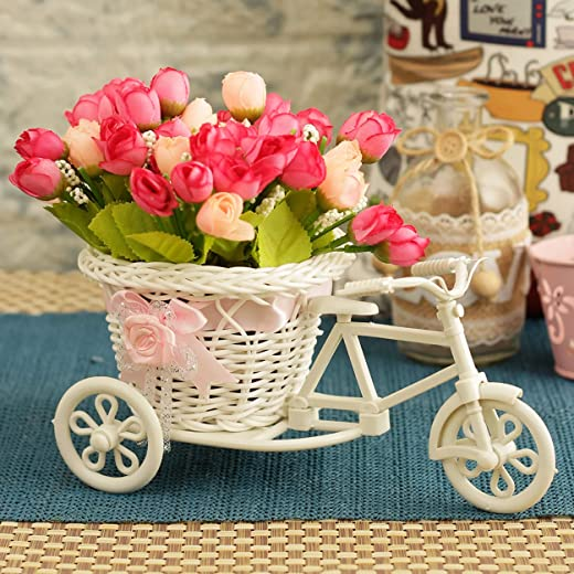 TiedRibbons® Cycle Shape Flower Vase with Peonies Bunches