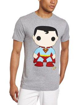 DC Comics Men's Funko Superman Heather Tee, Gray, Large