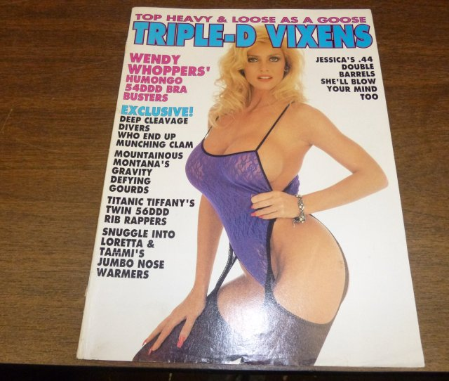 Triple D Vixens Busty Adult Magazine Wendy Whoppers Humongo 54ddd Bra Busters Paperback 1995