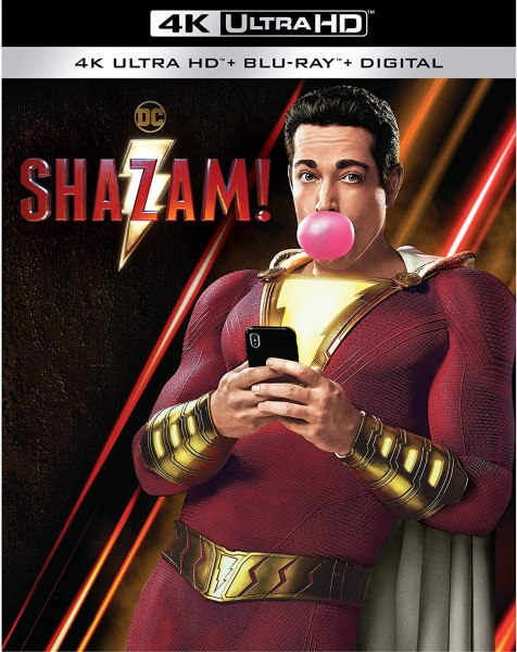 Shazam! 4K Ultra HD + Blu-ray + Digital 4K Ultra HD: Amazon.co.uk: Zachary  Levi, Mark Strong, Asher Angel, Jack Dylan Grazer, Adam Brody, Djimon  Hounsou, Faithe Herman, Meagan Good, Grace Fulton, Michelle